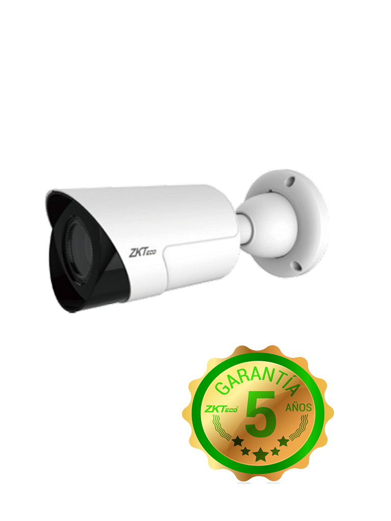 ZK BL854N28L - Camara IP bullet 4 MP / H265 / Lente motorizado 2.8 a 12 mm / WDR Real 120 dB / Ir inteligente 30M / Exterior IP67 /  PoE / 1 Entrada audio / ONVIF