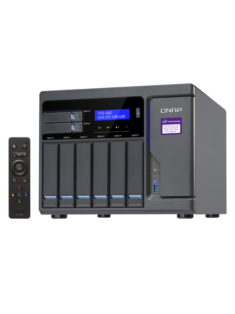 QNAP TVS882i516G- NAS EMPRESARIAL/HASTA 8 HDD/16 GB RAM EXPANDIBLE/INTEL I5-6500 4 NUCLEOS 3.6GHZ/4 PUERTOS GBE/3 HDMI/COMPATIBLE