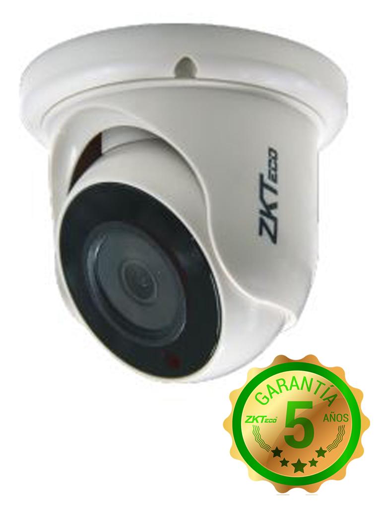 ZKTECO ES32B11J- CAMARA DOMO HDCVI 1080P/ AHD/ TVI/ CVBS/ LENTE 2.8MM/ ANGULO VISION 92 GRADOS/ LUZ IR 20M/ DWDR/ INTERIOR/ POLICARBONATO