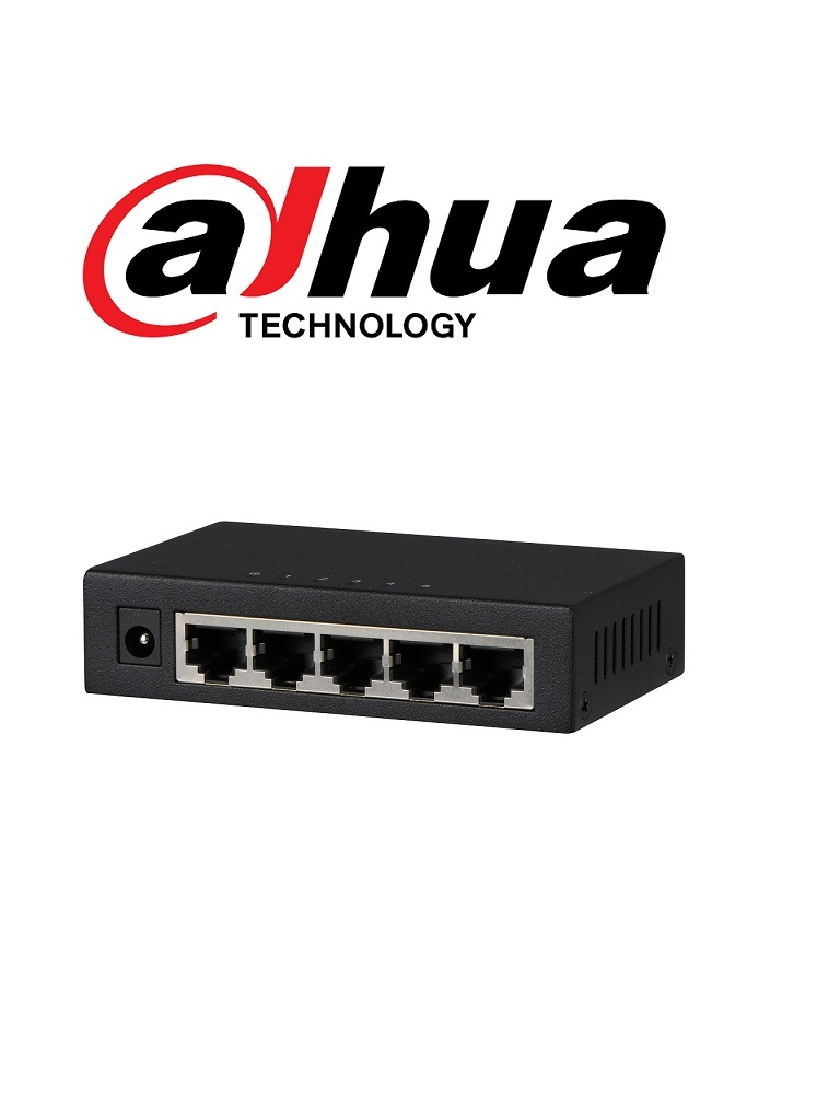 DAHUA DHPFS30055GT - Switch  Gigabit 5 puertos / No administrable / SWITCHING 10G / Con proteccion de descargas/