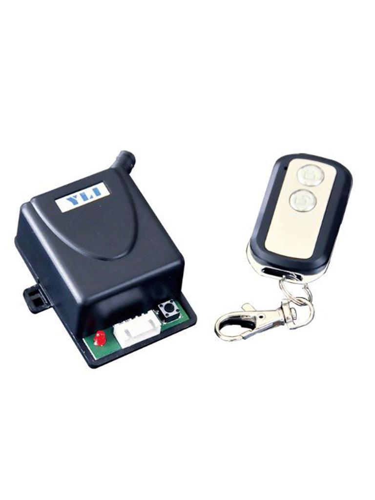 YLI ABK400112 - Modulo con relay normalmente abierto y cerrado con control remoto para apertura de puerta soporta hasta 30 controles/ Alimentacion a 12VDC