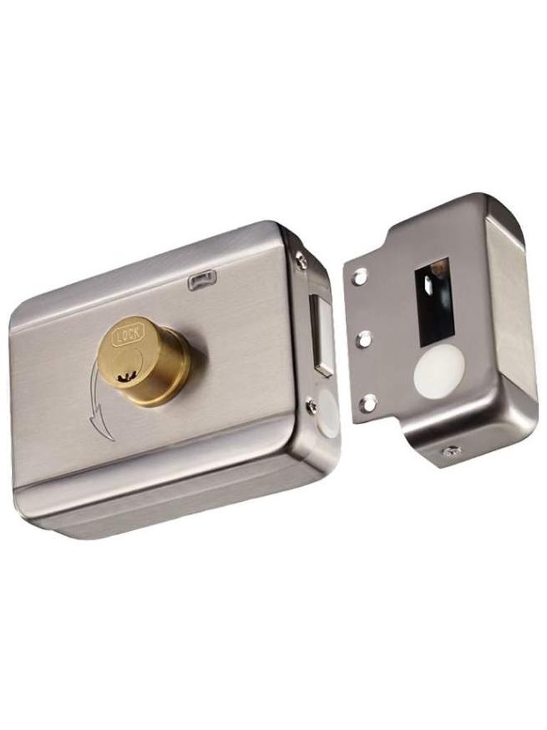 YLI ABK703BS - Cerradura inteligente anti impacto cuenta con juego de 2 llaves, sensor con luz LED de status o correcto cerrado, apertura con pulso voltaje de 12VDC