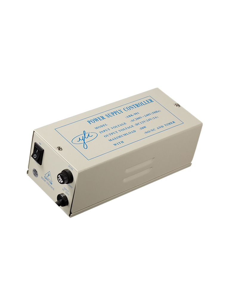 YLI ABK901123- FUENTE DE PODER 12V 3AMP/ PARA CONTRACHAPAS ELECTRICAS O MAGNETICAS/ TIEMPO AJUSTABLE DE 0 A 30 SEGUNDOS