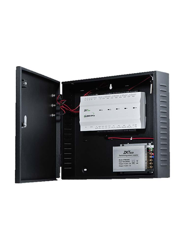 ZKTECO INBIO460PROBOX - Panel de Control de Acceso para 4 Puertas / Hasta 8 Lectoras FR1XXX / Compatible con Biosecurity / Gabinete y Fuente incluido / Green Label