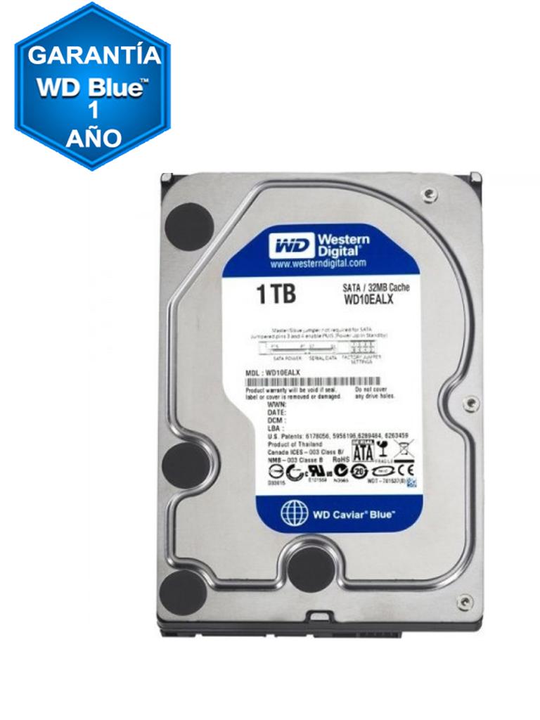 WESTERN WD10EZEX - Disco duro 1TB / Linea WD BLUE / 7200 RPM / SATA Iii / Recomendado para usos multiples