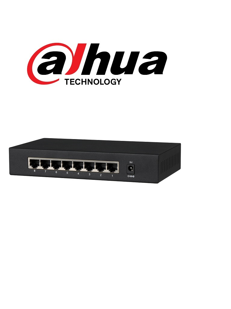 DAHUA DHPFS30088GT - Switch  Gigabit 8 puertos / No administrable / SWITCHING 16G / Con proteccion de descargas/