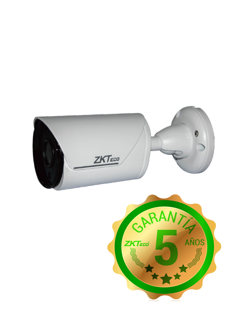 ZK BS854N12K - Camara IP bullet 4 MP / H265 / Lente 3.6 mm / WDR Real 120 dB / Ir 20M / IP67 / Analisis de video inteligente  PoE / ONVIF / P2P