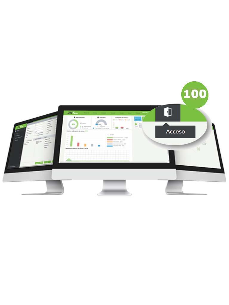 ZKTECO ZKBSACP1003Y - Licencia para 100 Puertas en Control de Acceso / Hasta 20 000 Usuarios / 1000 Departamentos / 1000 Áreas / Vigencia 3 Años