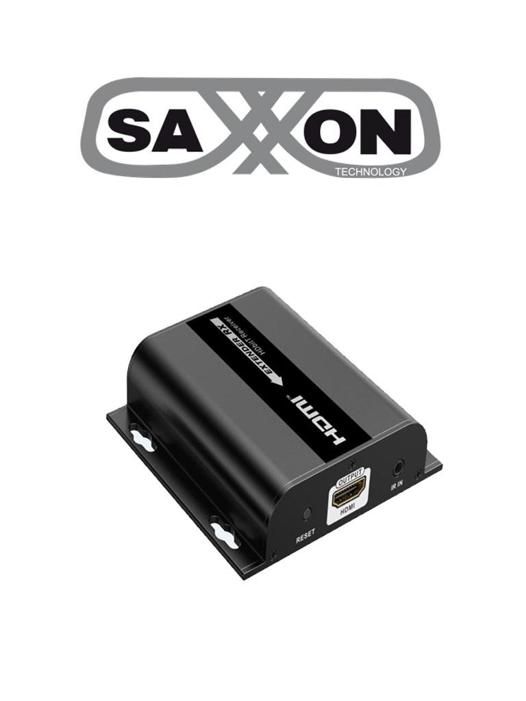 SAXXON LKV38340RX- Receptor de video HDMI sobre IP/ Cat 5e/ 6/ Hasta 120 metros / Resolucion 1080P/ HDBIT/ Receptor de IR/ Plug and play