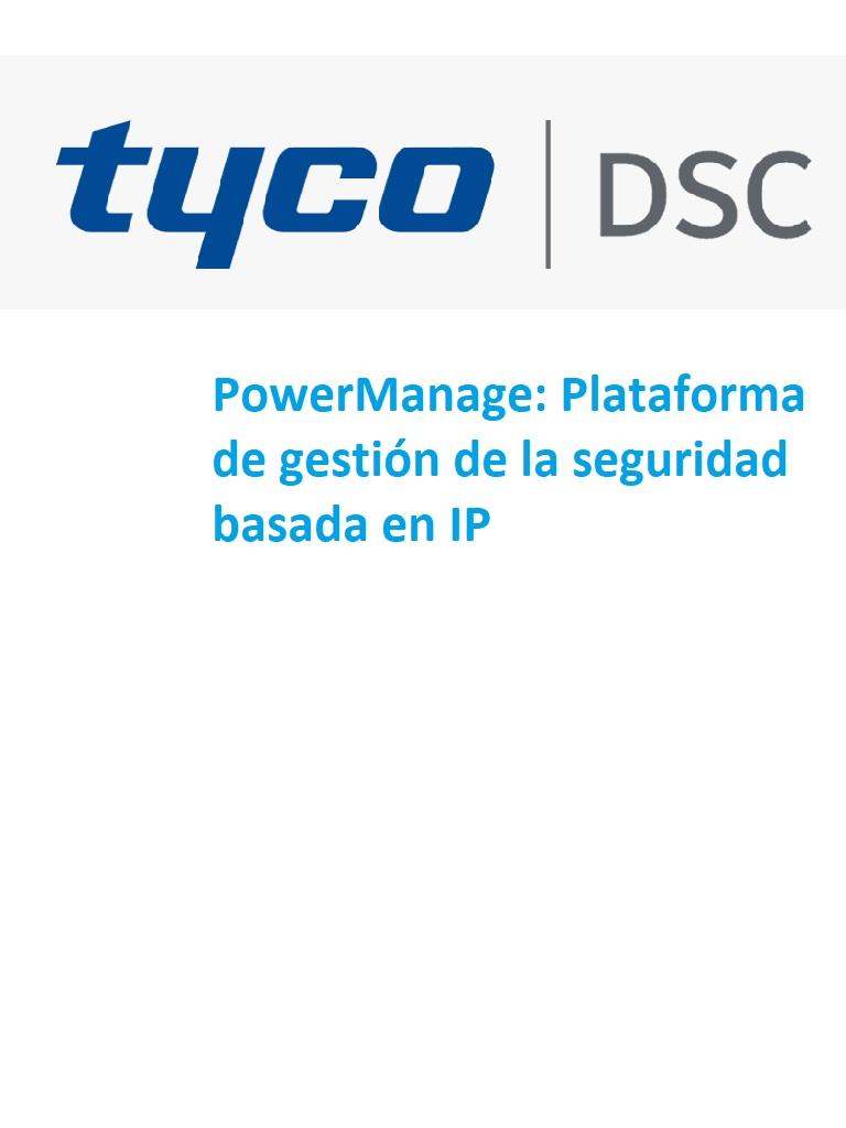 DSC Power Manage - Plataforma de Gestion para la seguridad basada en IP / 500 cuentas / Solo Software