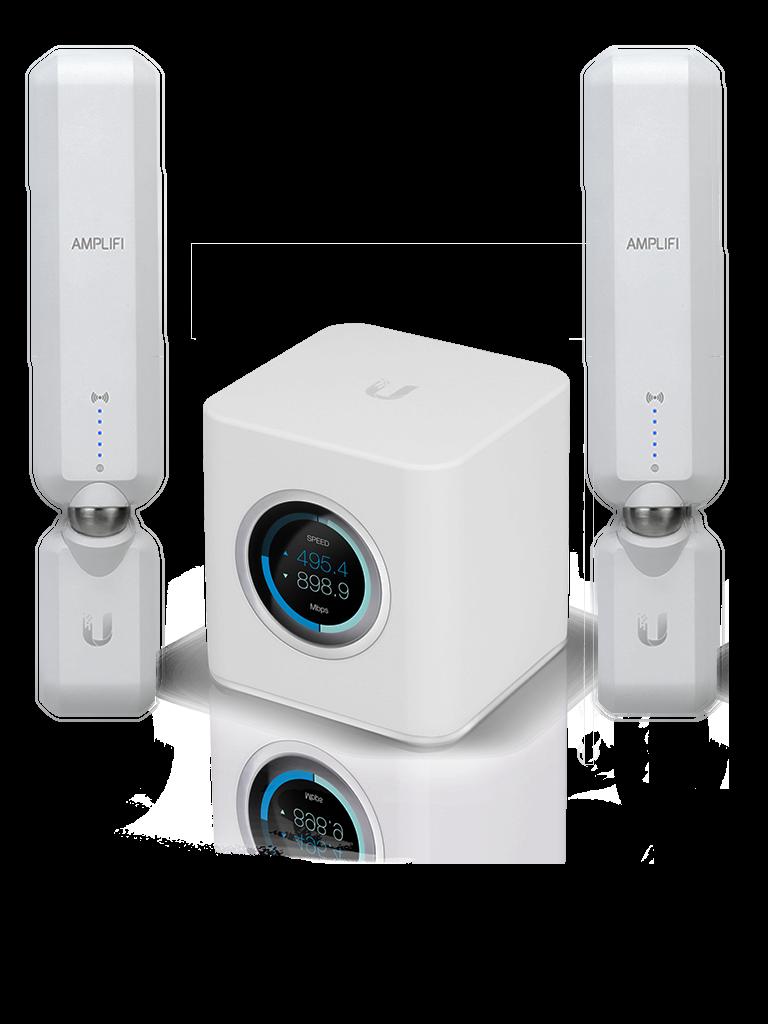 UBIQUITI AFIHD - Kit WiFi AmpliFi Residencial / Para alta densidad de usuarios y cobertura / Incluye 1 router AFIR / 2 Access point MESH AFIP HD