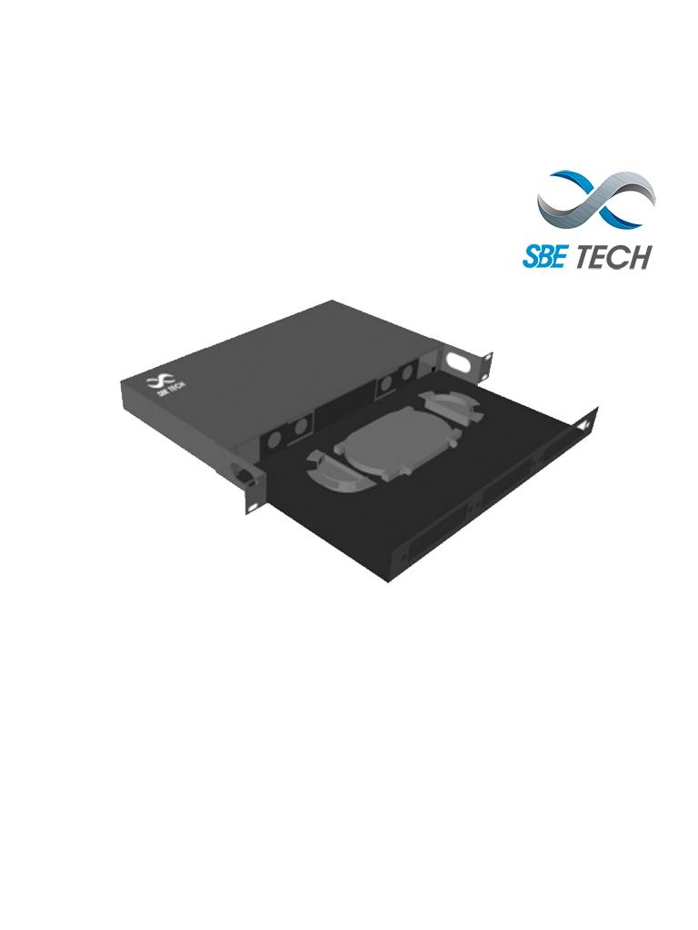 SBETECH SBE-DFO18D - Distribuidor de fibra óptica con charola deslizable