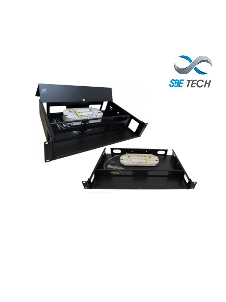 SBETECH SBE-DFO24 - Distribuidor de fibra hasta 24 acopladores 2UR