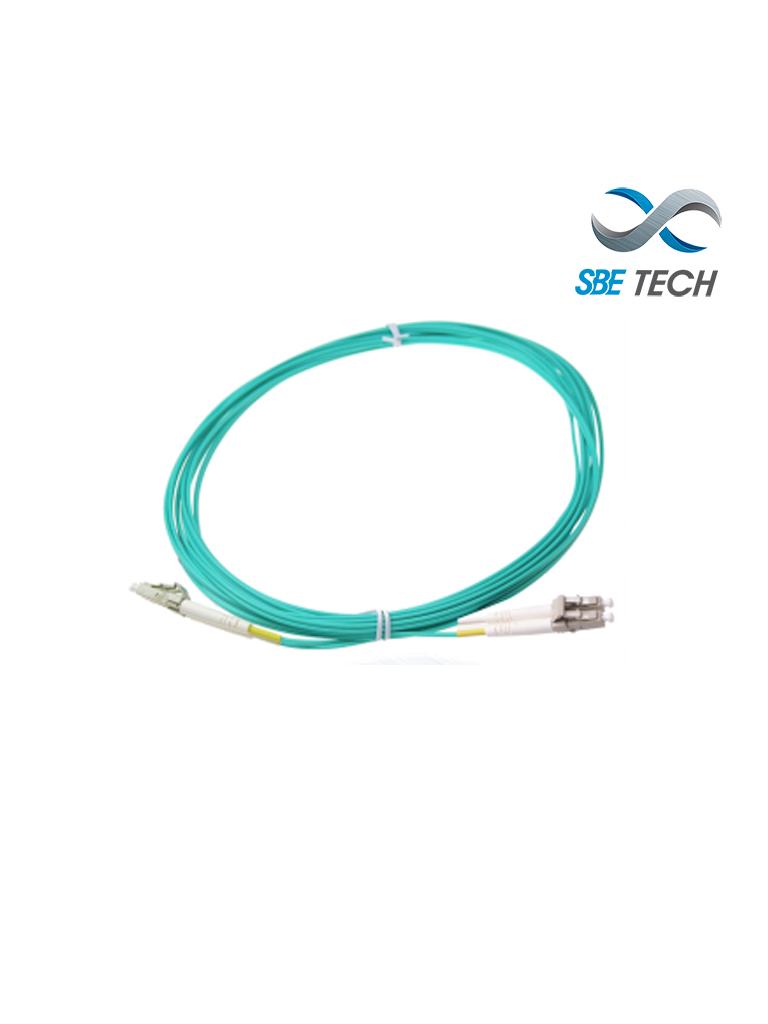 SBETECH SBE-JUMLC-LC-3M50 - Jumper de fibra óptica LC-LC MM 50/125µm OM4 dúplex 2mm, 3mts UPC