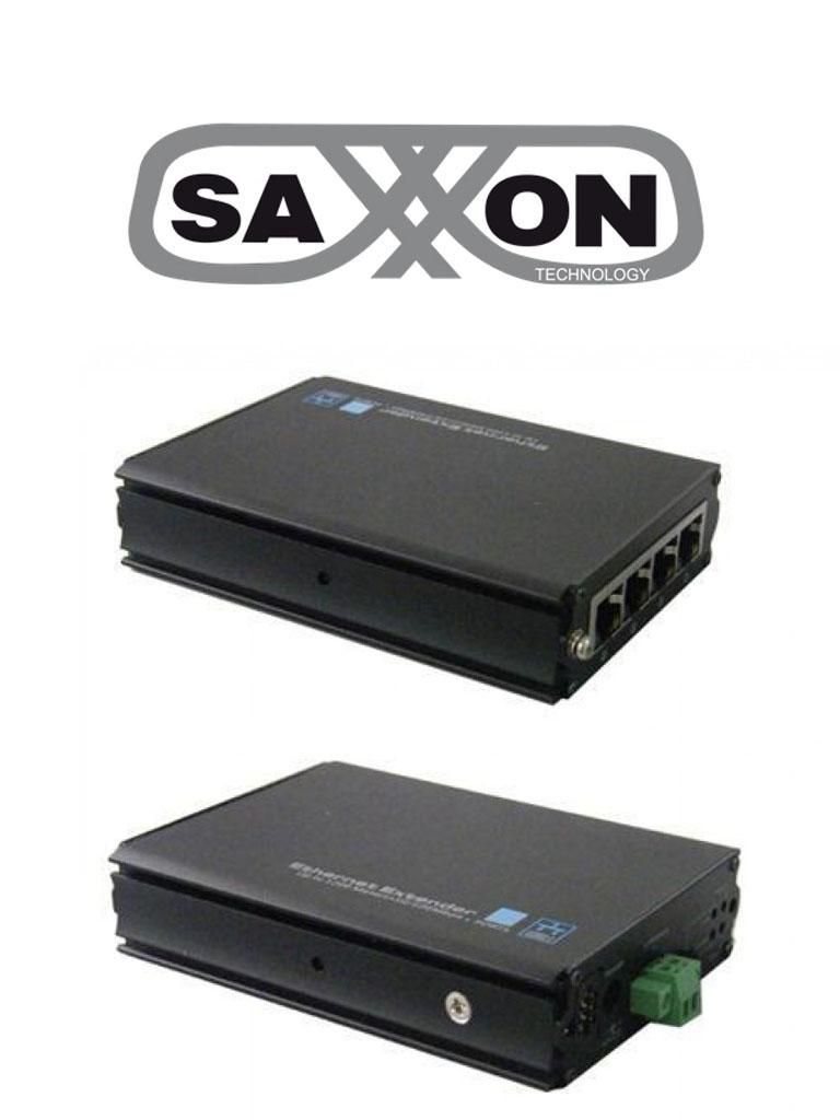 SAXXON uUTP704 - Extensor IP para 4 puertos de hasta 1000 metros por cable UTPCAT5 para 4 puertos
