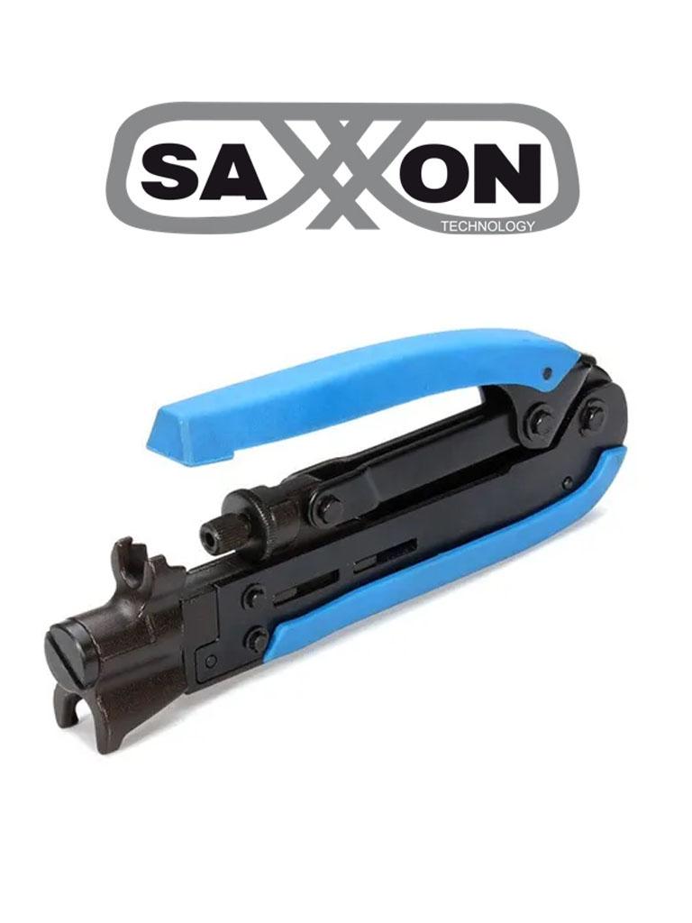 SAXXON SPH548A - Ponchadora de cable para conectores de compresion tipo f / RG59 / RG6 / RG11