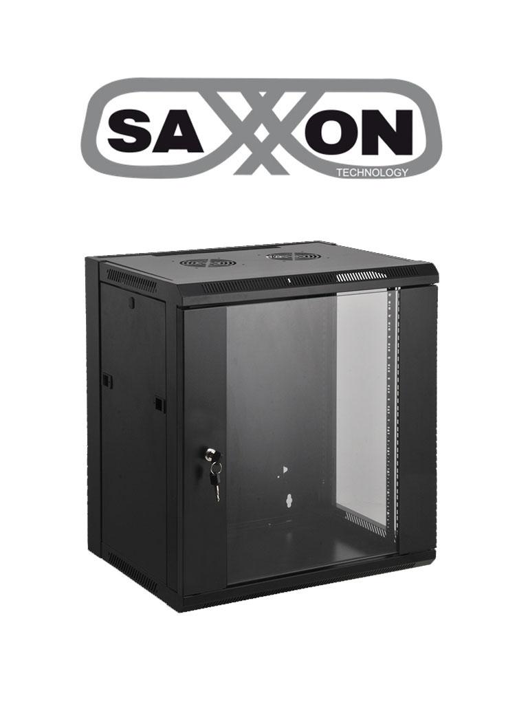 SAXXON SE540601 - Gabinete de pared / 6 UR / Fijo / Capacidad de carga de 60  Kg / Ancho 570 mm x profundidad 450 mm x alto 370 mm / #Gabinete