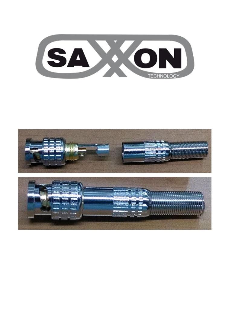 SAXXON PSUBR06 - Bolsa de 10 piezas / De conector para cable RG59 / Color plata / Desarmable / Con resorte