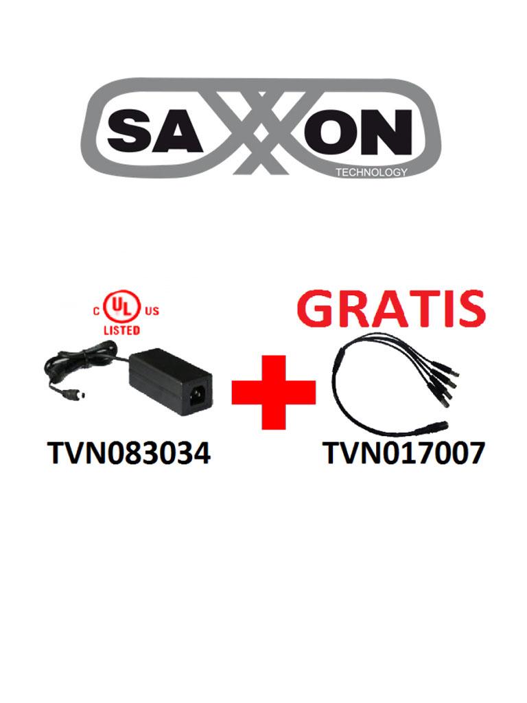 SAXXON PSU1205DPAQD - Paquete de fuente de poder y divisor de energia / 12 V DC / 5 A MP