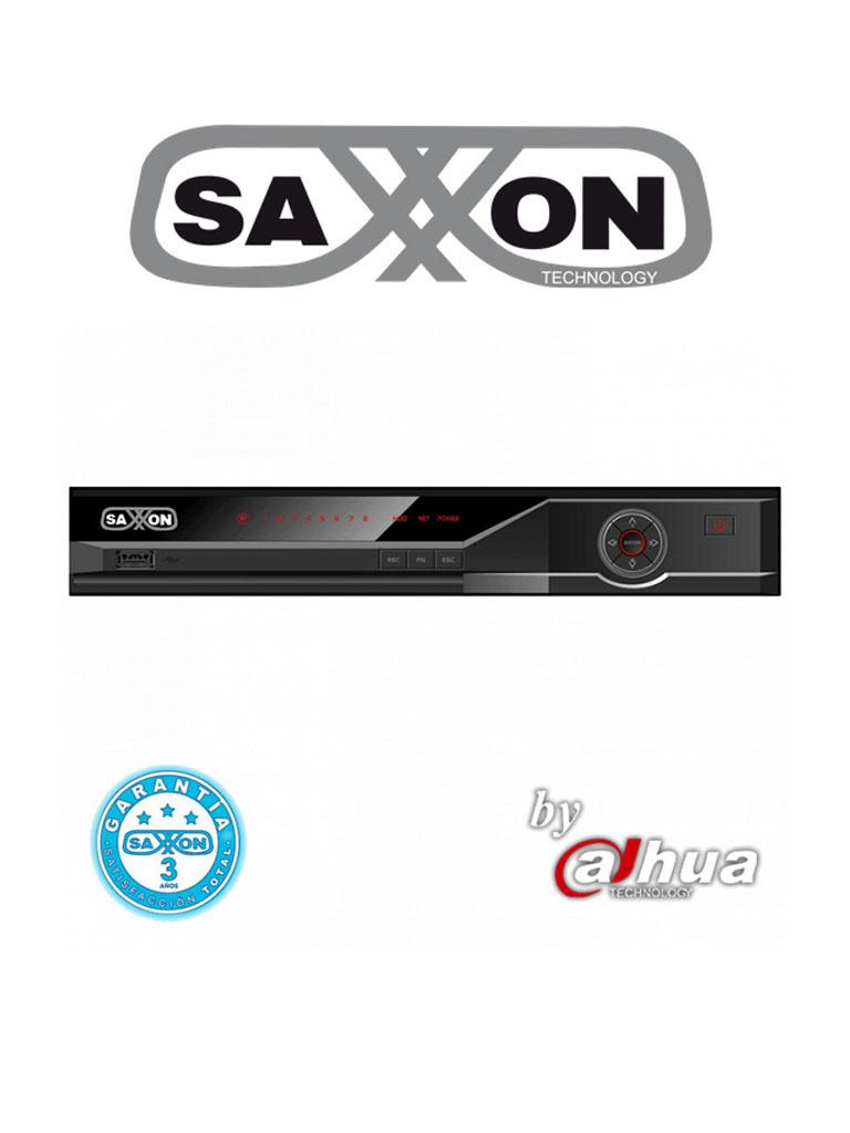 SAXXON PRO NV216A - By Dahua NVR 16 Canales IP / H264+ / 80 Mbps De grabacion / VGA /  HDMI / Soporta camaras de hasta 6 MP