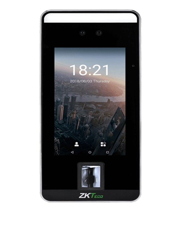 """ZKTECO SPEEDFACEV5 - Terminal de Control De Acceso con Reconocimiento Facial de Alta Velocidad con Pantalla Touch de 5"""" / 10000 Usuarios / 6000 Rostros / 10000 Huellas / 200000 Registros"""