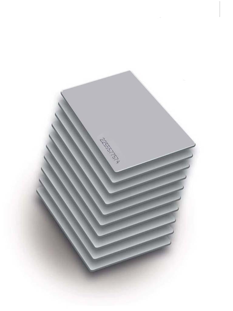 ZKTECO MCS50F - Paquete de 50 Tarjetas Mifare 13.56 Mhz/ PVC/ Imprimibles/ Modelo A1606002/ 1K / Foliadas