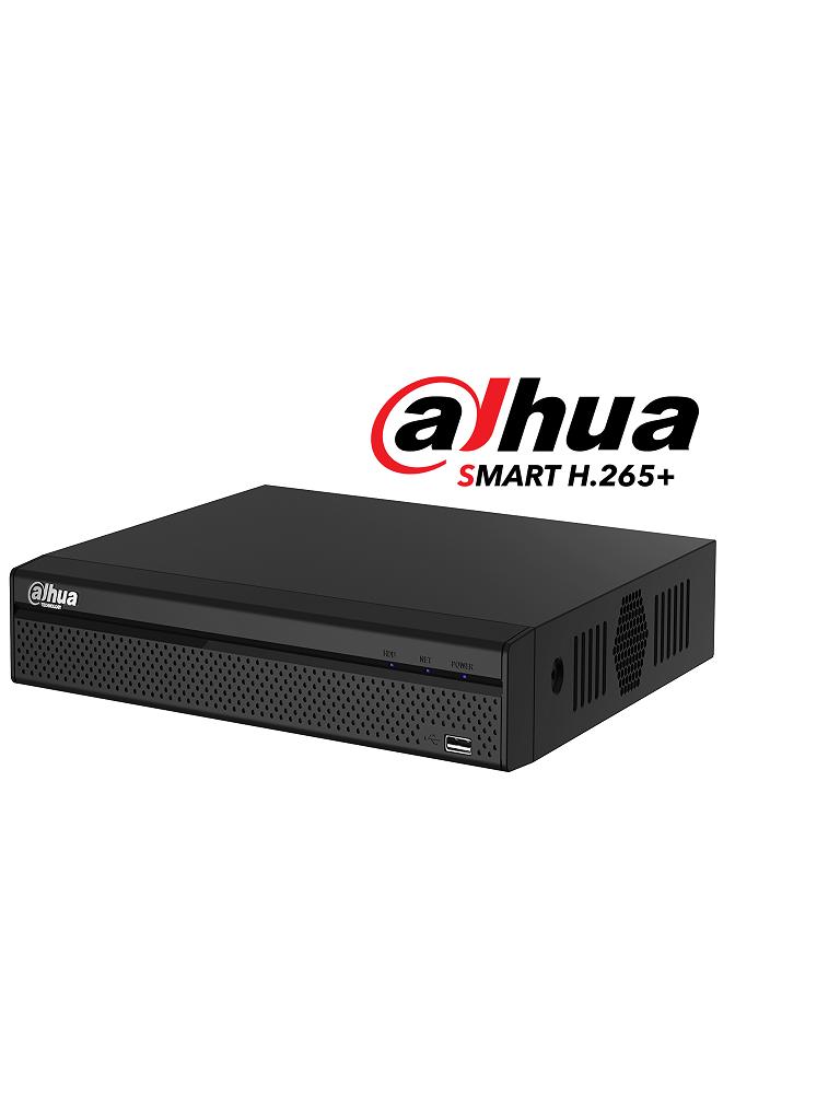 DAHUA XVR5104HS4KLX - DVR 4 Canales pentahibrido 4K / 6 MP / 4 MP /  1080p / H265+ / 2 Ch IP adicionales 4+2 / IVS / 1 SATA Hasta 10TB / P2P
