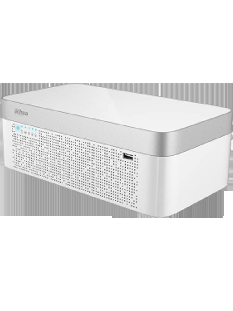 DAHUA XVR7108E4KLBX - DVR 8 Canales  HDCVI pentahibrido 4K / 4 MP /  1080p / H265+ / IOT / Incluye bateria / P2P / Smart audio  HDCVI / IVS / 1 SATA HAST 10TB