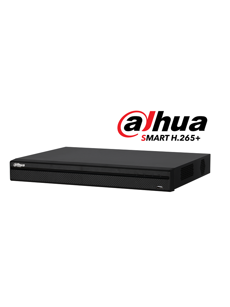 DAHUA XVR5216AN4KLX- DVR 16 CANALES HDCVI PENTAHIBRIDO 4MP/ 4K/ 1080P/ H265+/8 CH IP ADICIONALES 16+8/ IVS/ 2 SATA HASTA 20TB/ P2P/SMART AUDIO HDCVI