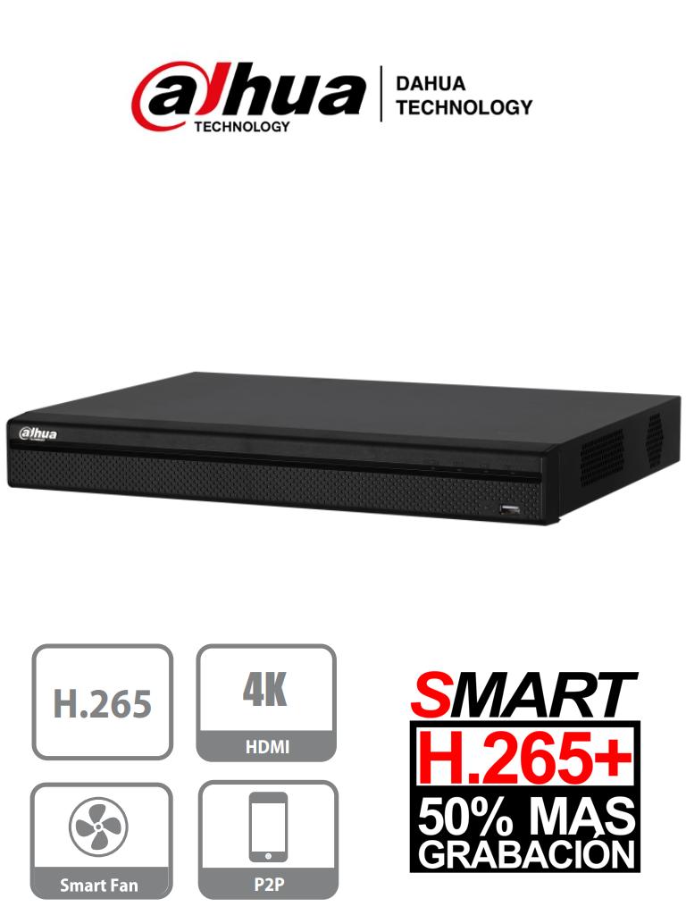 DAHUA XVR5208AN-4KL-X - DVR 8 Canales Pentahibrido  4K/ 4 MP/ 1080p/ H265+/ 4 Canales IP adicionales 8+4/ IVS/ 2 Bahías de Discos Duros Hasta 20TB/ P2P/ Smart Audio