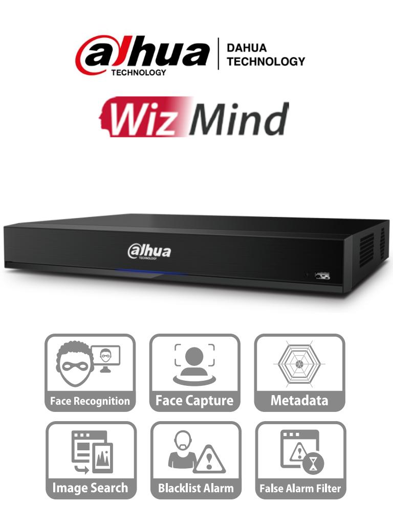 DAHUA XVR8208A-4K-I - DVR de 8 Canales 4K/ WizMind/ Soporta 4 Canales de Reconocimiento Facial/ 4 Canales de Metadatos/ H.265+/ Hasta 64 Canales IP/ 20 Bases de Datos/ Soporta Camaras con IA/ 16&3 E&S de Alarma/ 2 Puertos Sata/ #Proyectos