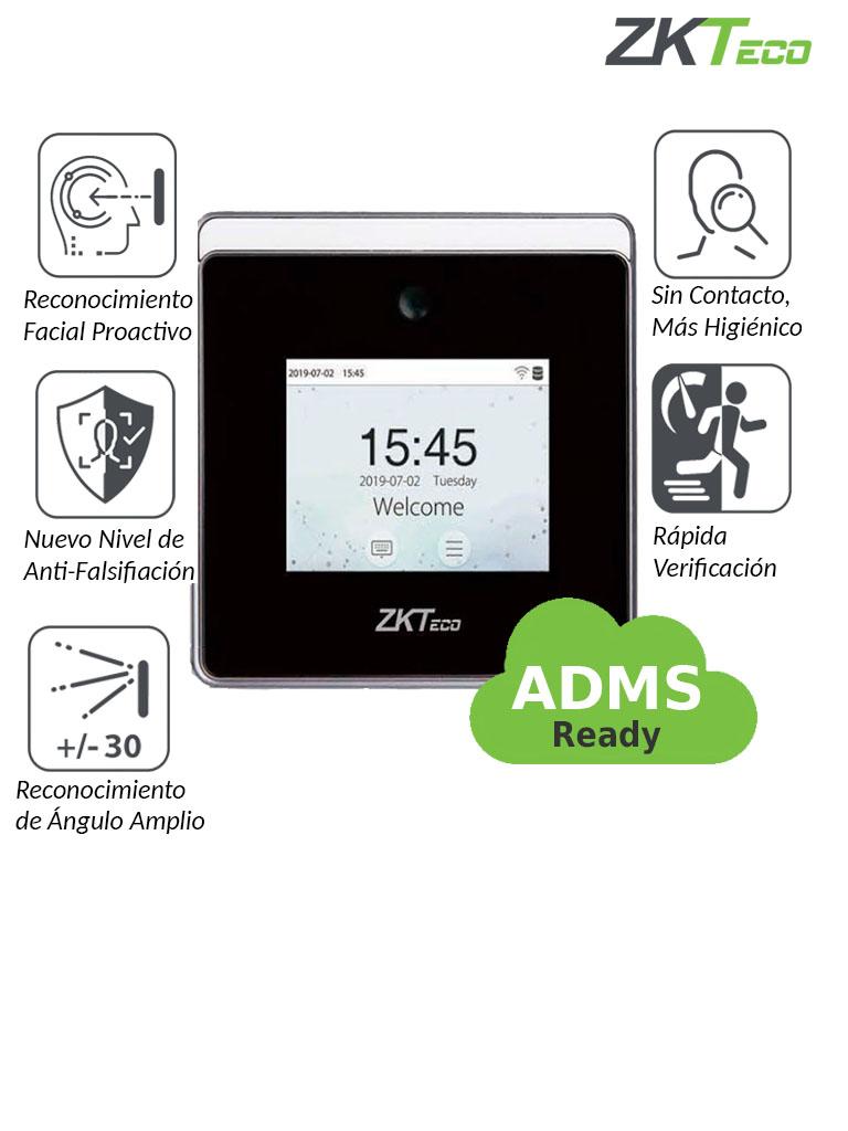 ZKTECO HORUSTL1 - Control de asistencia facial Visible Light / 800 rostros  / 150000 eventos / ADMS / WiFi / #NuevoZK / BioTimePro gratis con 2 relojes y 200 empleados / #MTD