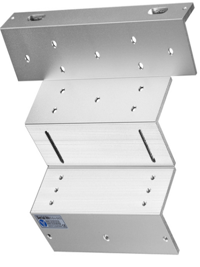 YLI YM280ZL/ABK280ZL - Soporte de Electroiman para puerta con Apertura Interior/ 280 Kg/ Tipo Z/ Compatible con ZKYM280