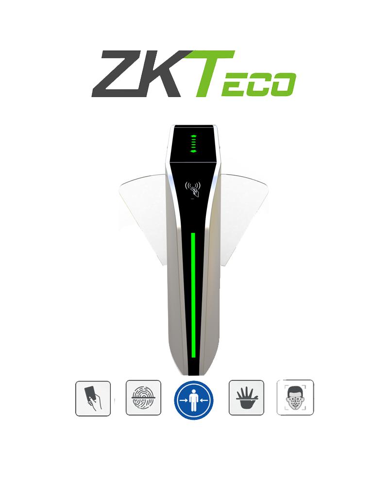 ZKTECO FBL320 - Barrera Peatonal Central Retraible / Acero SUS304 / Aleta de Acrílico / 110V / 35 Personas x Min / Carril 60 cm / Exterior Protegido / 2 millones de Ciclos / Infrarrojos de Seguridad / No cuenta con Lectores y Panel / #NuevoZK