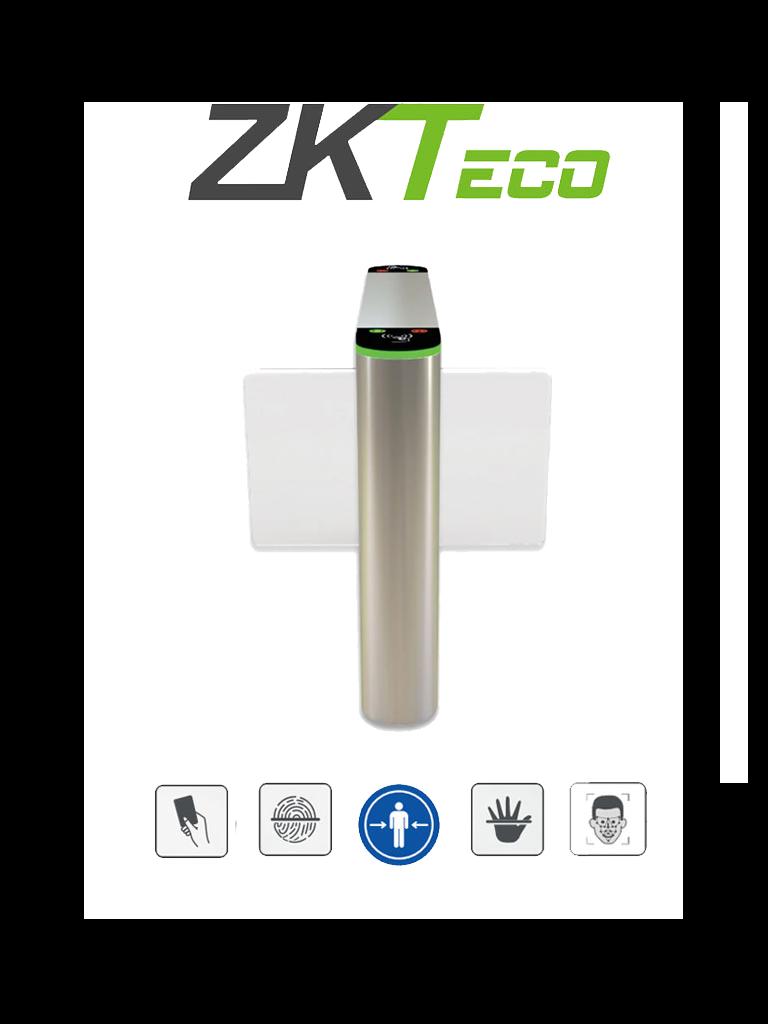 ZKTECO SBTL320 - Barrera Peatonal Central Abatible / Acero SUS304 / Aletas de Acrílico / 110V / Exterior Protegido / 30 Personas x Min. / 2 millones de Ciclos / Carril 75 cm / Infrarrojos / Sistema de Seguridad / No cuenta con Lectores y Panel / #NuevoZK