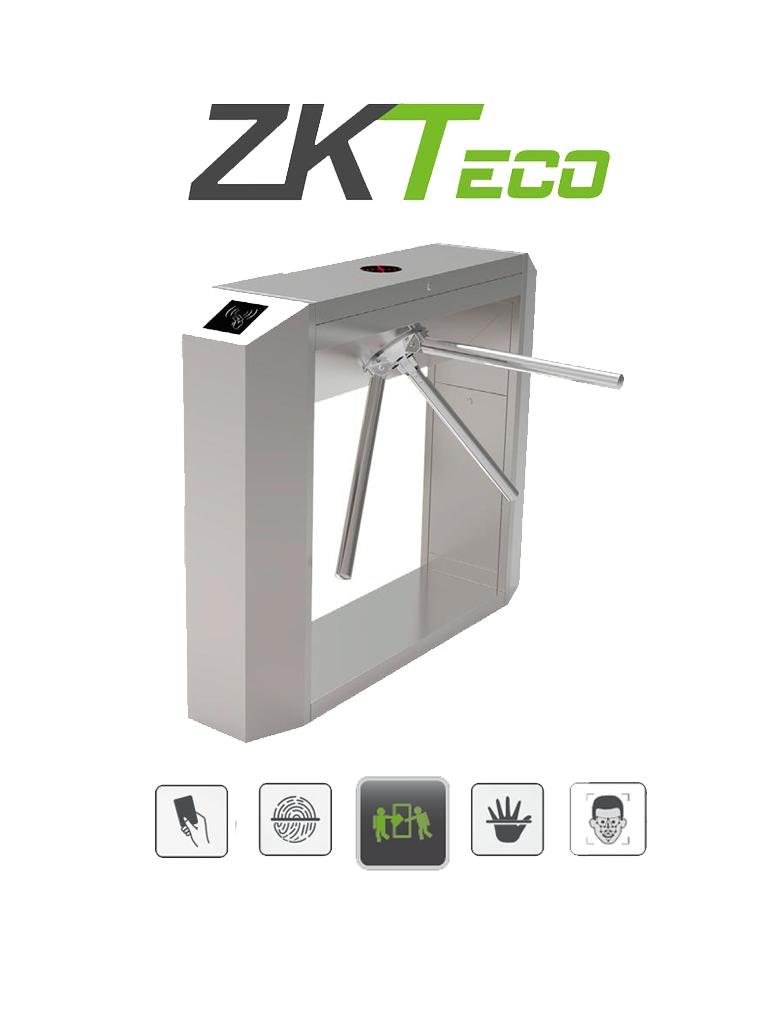 ZKTECO TS200 - Torniquete Bidireccional / Acero SUS304 / Desbloqueo de Seguridad sin Energía / No cuenta con Lectores y Panel / 110V / Exterior Protegido / Tráfico de 25 a 30 x Min / Ancho de Carril 50.5 cm / 1 millón de Ciclos / Apertura con Pulso Seco