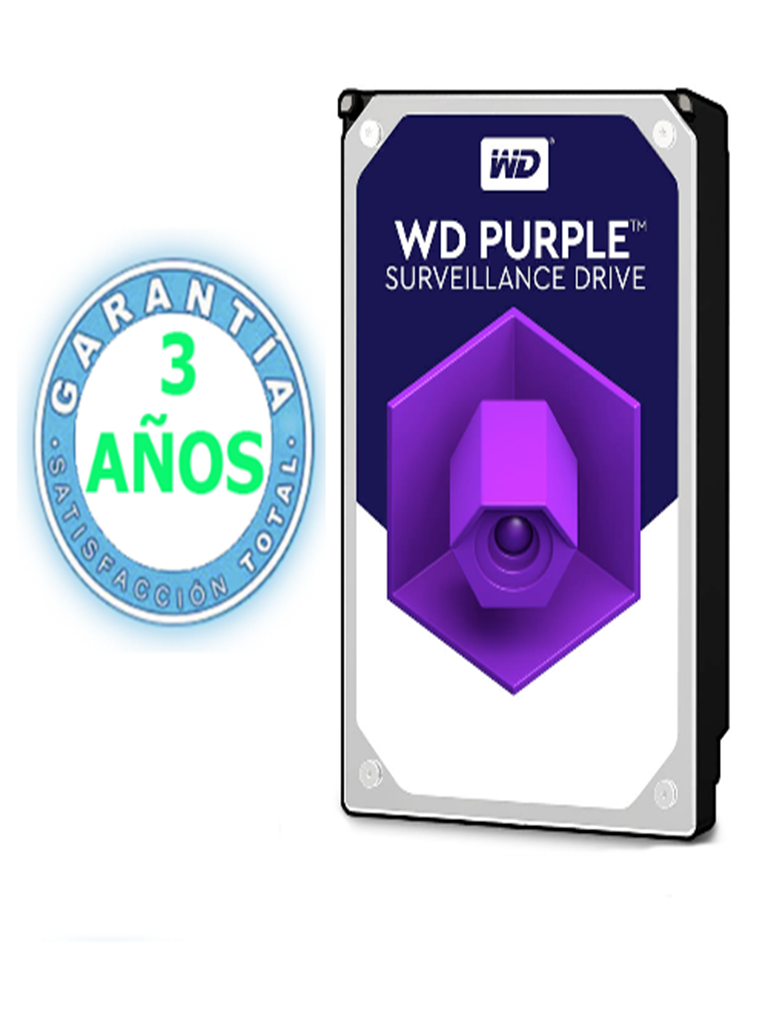 WESTERN WD40PURZ- DISCO DURO 4 TB/ SERIE PURPLE/SATA 6 GBS/ RECOMENDADO PARA VIDEOVIGILANCIA / TAMANO DE 3.5