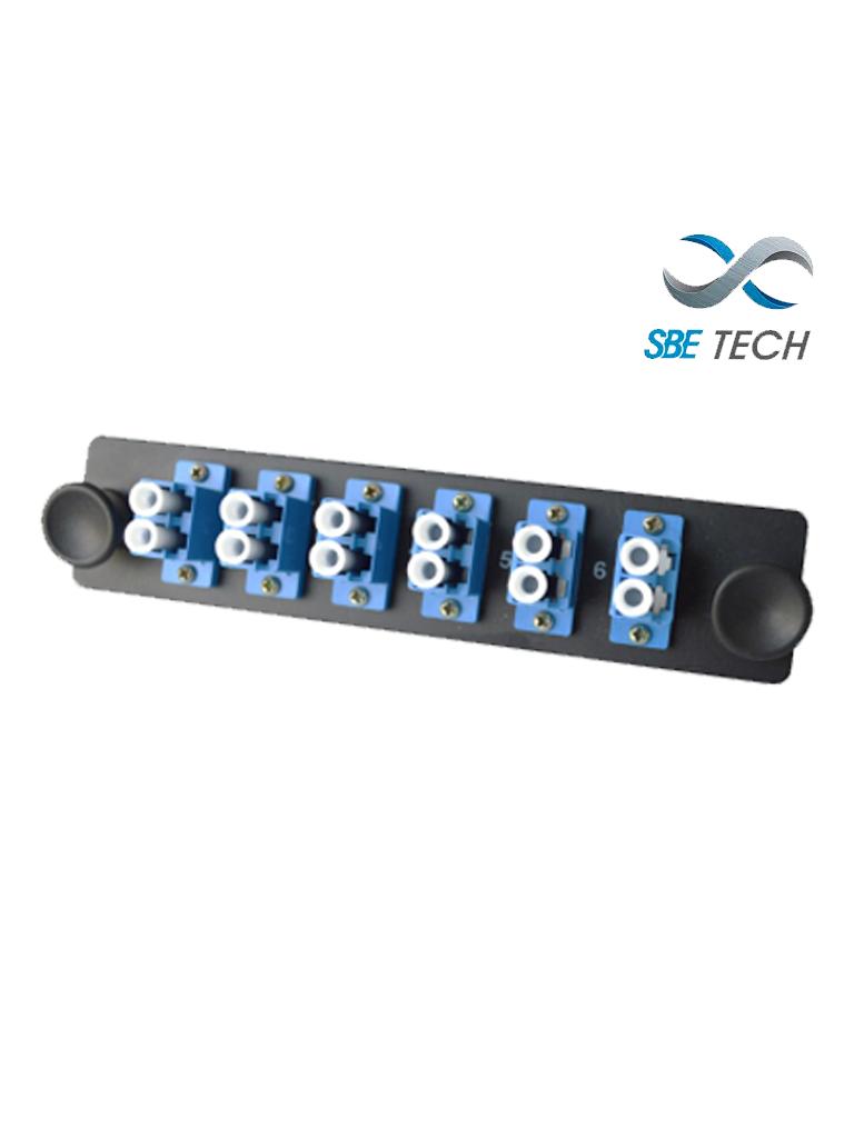SBETECH SBE-6LCSM - Placa con 6 acopladores LC dúplex monomodo