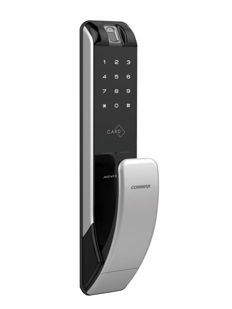 COMMAX CDL210PR - Cerradura biometrica / Verificacion por huella / Password y tarjetas Mifare / Llave mecanica / Hasta 100 usuarios / Teclado touch