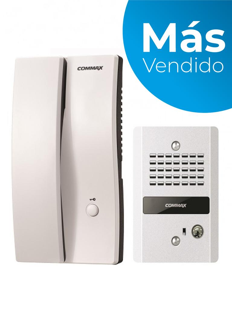 COMMAX DP2SDR2GN - Kit de interfon con frente de calle y auricular conexión a 2 hilos, conecta equipo extra con clave 29042 cuenta con función para apertura de puerta/ #MásVendido/ #TVCalGritodeMexico