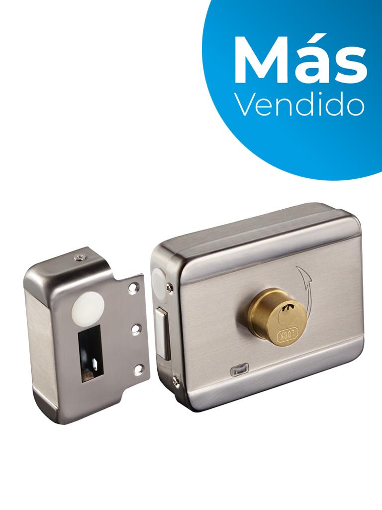 YLI ABK703BS - Cerradura inteligente anti impacto cuenta con juego de 2 llaves, sensor con luz LED de status o correcto cerrado, apertura con pulso voltaje de 12VDC/ #MásVendido