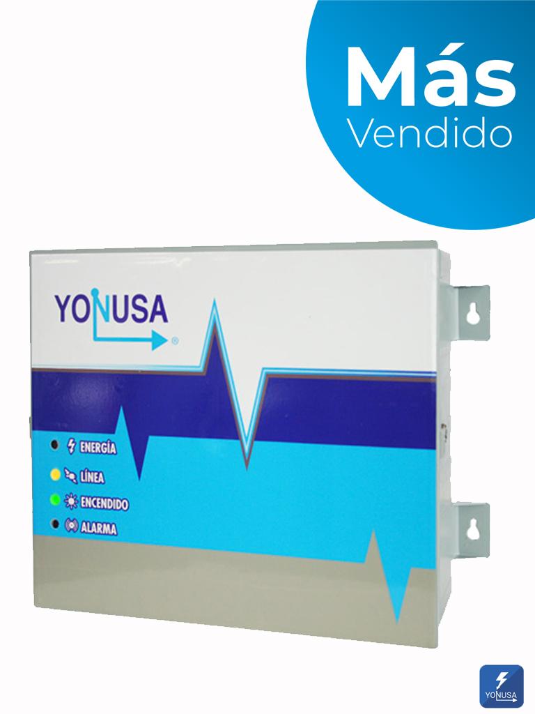 YONUSA EY1200012725 - Energizador para cerco eléctrico / 12,000V / Cubre hasta 1200 mts lineales / Soporta Sirena cableada/ Modulo WiFi y batería de respaldo/ SXN2290001