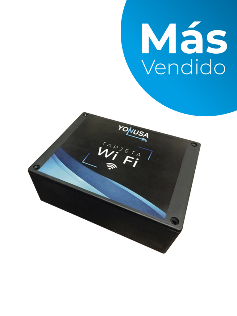YONUSA MWFLITE - Modulo Wifi Lite compatible con todos los energizadores Yonusa, Aplicación gratuita Yonusa 2.0 para sistemas iOS y Android para notificaciones de eventos/ Estándar 802.11 b/g/n/ 1 salida auxiliar/ #MásVendido