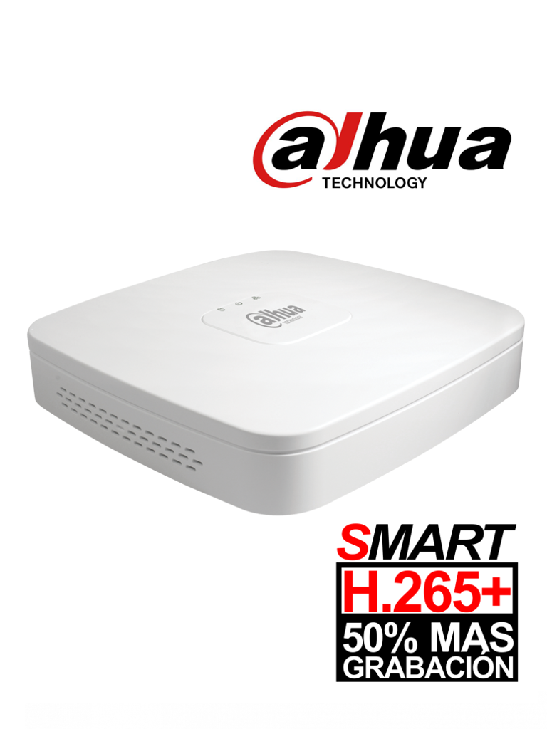 DAHUA XVR4104CBX1 - DVR 4 Canales  HDCVI pentahibrido  1080p  Lite / H265+ /  HDMI / VGA / 1 Ch IP adicional 4+1 / 1 SATA Hasta 6TB / P2P / Smart audio  HDCVI