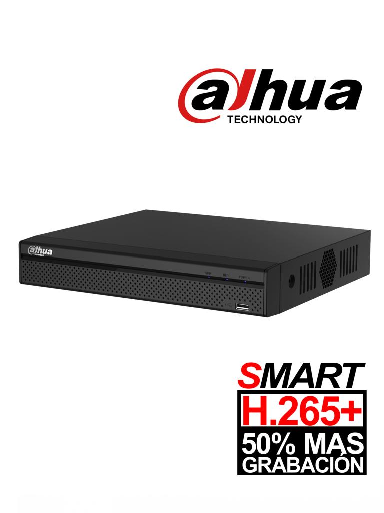 DAHUA XVR4104HSX1 - DVR 4 Canales  HDCVI pentahibrido  1080p  Lite / H265+ / 1 Ch IP adicional 4+1 / 1 SATA Hasta 6TB / Smart audio  HDCVI / P2P