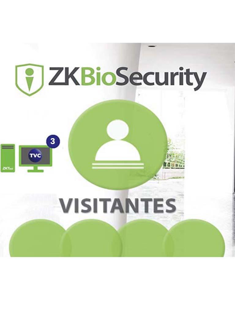 ZK ZKBSVISP33Y - Modulo de visitas para Biosecurity / 10 Mil visitas por mes / 3 Sitios de registro / 3 Años