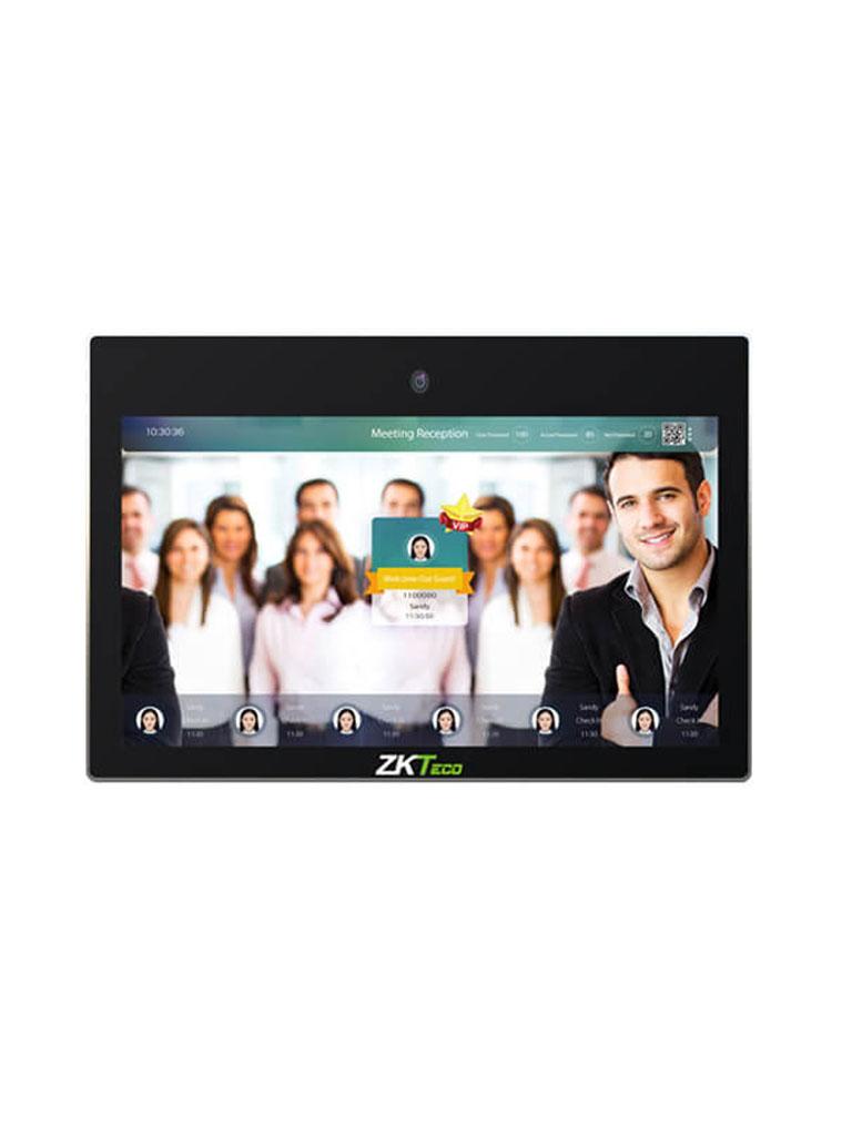 ZKTECO FD1021H - Pantalla PUBLICITARIA /  LCD de 21 Pulgadas Touch / Vídeo / Imágenes / Audio / Texto / Detección Facial 5000 Usuarios / Control de Asistencia / 4G RAM