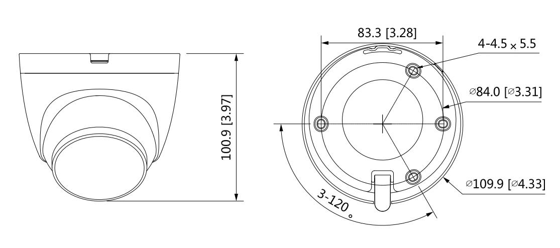 Dahua-HAC-ME1509TQ-PV-CÁMARA-EYE-BALL-TIOC-HDCVI-DIMENSIONES