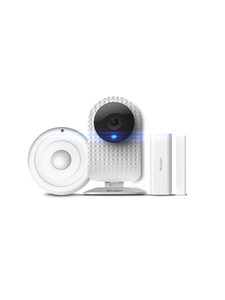 WULIAN SMARTSECURITY - Paquete ANTI intrusion basico incluye camara LOOKEVER 1080 1 sensor de movimiento y 1 contacto magnetico