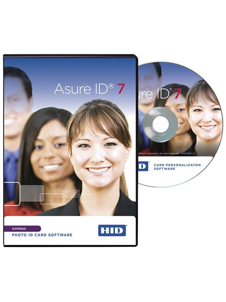 HID AIDEXPRESS - Licencia de software para credencializacion ASURE ID EXPRESS para impresoras  HID FARGO / Conexion a BD / Impresion de codigos  QR